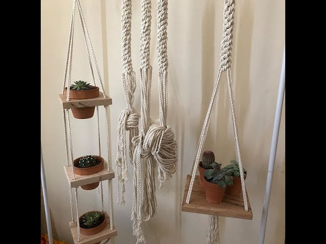 Plant Hanger Ideas with Macrame'